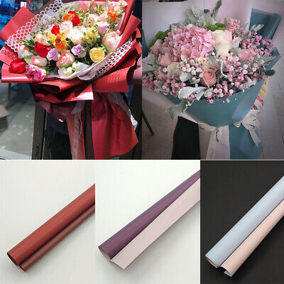 20pcs Flower Wrapping Paper Frosted Florist Art Wedding Bouquet