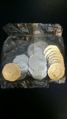 New 50p Sherlock Holmes,  2019, UNC, 5 Full sealed bag ( x100)