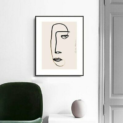 Nordic Canvas Print - Figure Geometric Wall Art Home Decor Painting (UNFRAMED)
