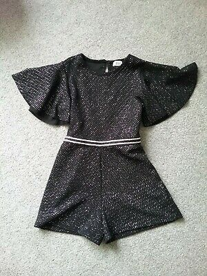Girls River Island Black Sparkly All In One shorts 5-6years