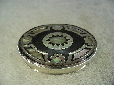 Solid Silver Mother of Pearl & Faux Tortoiseshell c1720 Snuff Box