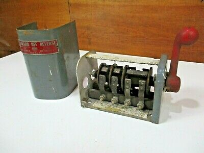 1940's Antique BROWN ELECTRIC COMPANY Reversing Forward Drum Switch VTG Cutler 3