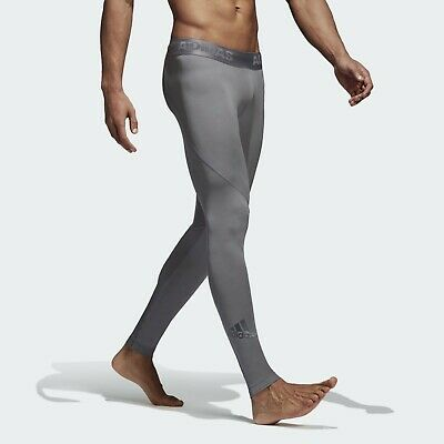 Adidas Men's Alpha Skin Compression Running/Fitness/Yoga/Gym/ Sports Long Tights