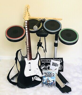 PS3 ROCK BAND Special Edition Bundle Kit Drums Guitar Game