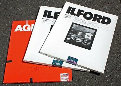"""195739 Mixed Lot 20x24"""" Agfa & Ilford Multicontrast RC B&W Photo Paper *Expired*"""