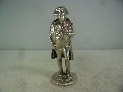 Excellent Solid Silver Figure of Napoleon, London Import 1896