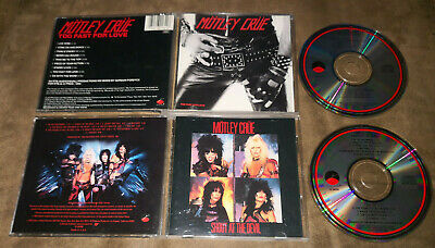 2 MOTLEY CRUE Too Fast For Love + Shout At The Devil CD Lot OOP