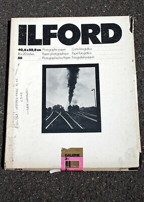 "195740 *EXPIRED* Box of 24 Shts Ilford Galerie Grade 2 16x20"" B&W Photo Paper"