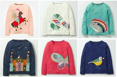 Mini Boden Long Sleeve Applique Tshirts Tops NEW DESIGNS ADDED