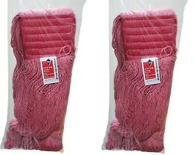 Lot of 2 Red Antimicrobial Large Wet Mop Head