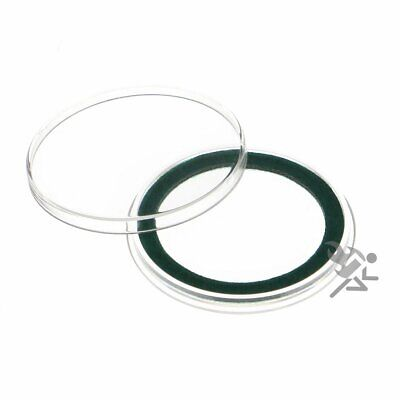 (25) Air-tite 39mm Green Velour Colored Ring Coin Holder Capsules for 1oz