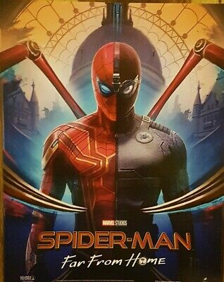 SPIDERMAN Poster Far From Home Suits - Official Odeon Movie Glossy Approx A4