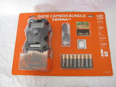 New Sealed Game 12 MP Infrared Lens Camera Terra Trail W/ SD + Batteries