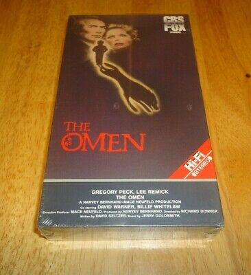 The Omen (VHS, 1984) Gregory Peck Rare CBS FOX Red Horror Brand New Sealed