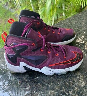 the latest e3447 33872 NIKE LEBRON XIII 13'S Size 7 Y Shoes 808709 500 Kids Gs ...