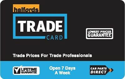 Halfords Trade Card - Saving Discount Loyalty Card