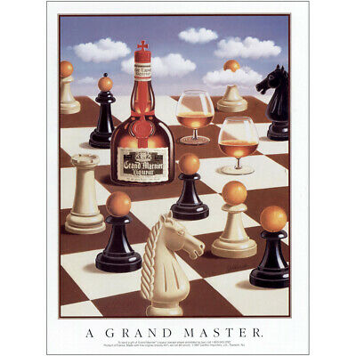 1991 Grand Marnier: Grand Master Chess Vintage Print Ad