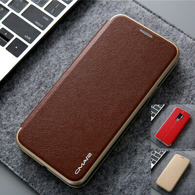 For Samsung Galaxy S8 S9+ S10e S10 Magnetic Leather Wallet Flip Card Case Cover