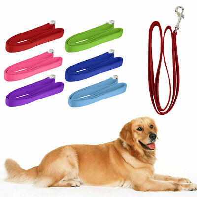 120*2cm Nylon Lead Leash Recall Pet Dog Puppy Long Training Obedience J7