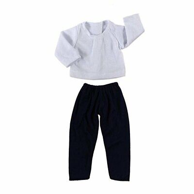 "White Shirt Navy Green Pants Set Wardrobe Makeover for 18"" American Girl Doll J7"