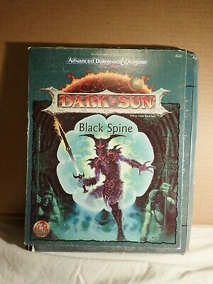 Dark Sun Black Spine (TSR 2428) Advanced Dungeons & Dragons 2ED Boxed Set