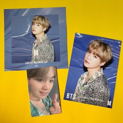 BTS SUGA Changing & Photo & Photocard Set Lights/Boy With Luv Japan Official
