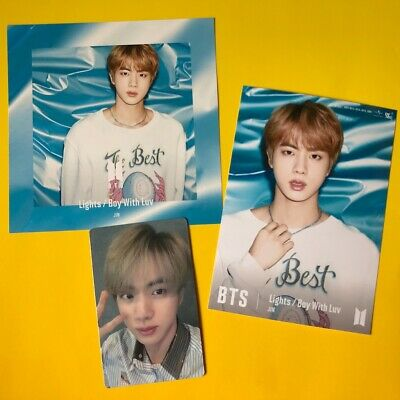 BTS JIN Changing & Photo & Photocard Set Lights/Boy With Luv Japan Official