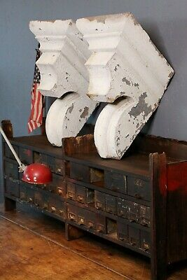 Antique Vintage Corbels Architectural Salvage White Kitchen Farmhouse Decor Old