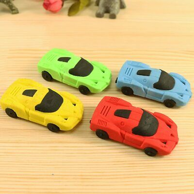 4pcs/pack Korean Creative Stationery Removable Mini Sports Car Styling Erasers
