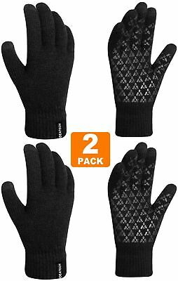 IDEATECH Winter Gloves for Women,(2 Pack) Knit Touch Screen Gloves,Anti Slip ...