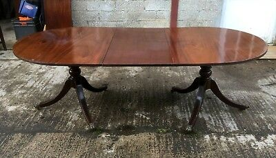 Edwardian Regency Style Solid  Mahogany Dining Table 8 Seater