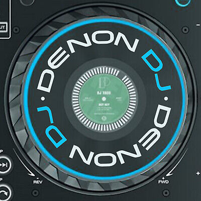 DENON DJ PRIME 4 JOG STICKERS / SLIPMAT GRAPHICS / SC5000 / X1800 - x 2