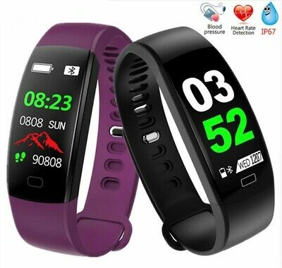 IP68 Waterproof Smartwatch Heart Rate Monitor Pedometer Blood Pressure Watch