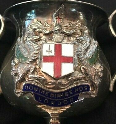 vintage City of London silver plate trophy, trophy, loving cup, trophies