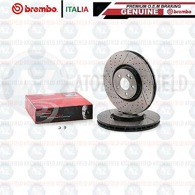 FOR MERCEDES BENZ AMG A45 AMG FRONT GENUINE BREMBO BRAKE DISCS PAIR 350mm