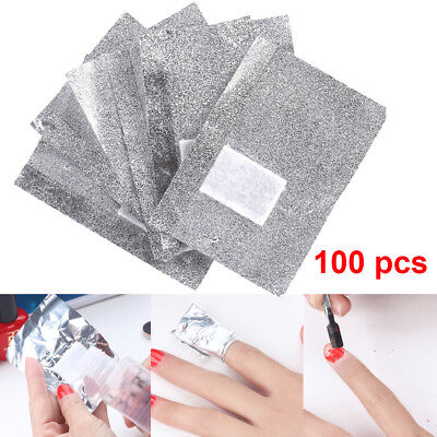 Silver Nail Foil Wraps For Removal Of Soak Off Gel Polish 100/200/300/400/500 UK