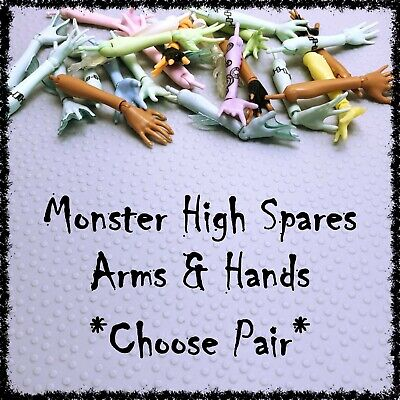 MONSTER HIGH Doll, Arms & Hands Comp, Spares, OOAK ~SELECT STYLE~ 1 Pair incl.