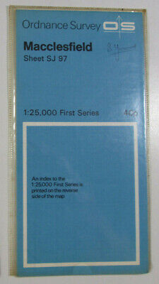 1966 Old Vintage OS Ordnance Survey 1:25000 First Series Map SJ 97 Macclesfield
