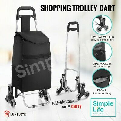 Shopping Cart Trolley Grocery Bag Foldable Luggage Basket Carts Wheels Shop Bag