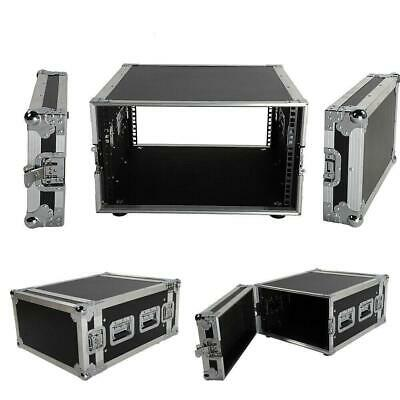 "19"" Space Rack Case Single Layer Double Door 6U DJ Equipment Cabinet Aluminum"