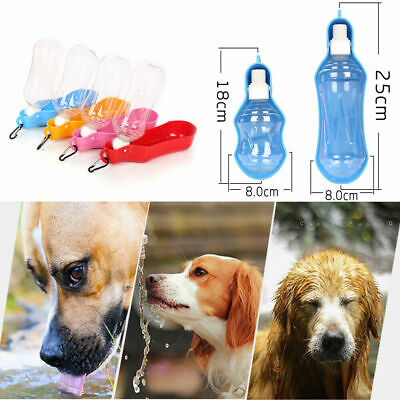 Portable Dog Travel Water Bottle Pet Cat Foldable Drink Bowl Feeder 250/500ml A
