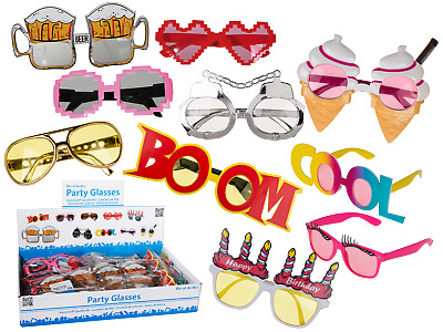 Novelty Party Glasses -  Fun Sunglasses Ice Cream Beer Selfie Summer Beach Pool