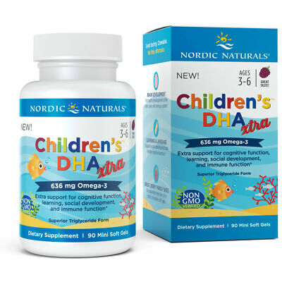 Nordic Naturals Children's DHA Xtra - Concentrated Omega-3, DHA, 90 Soft Gels