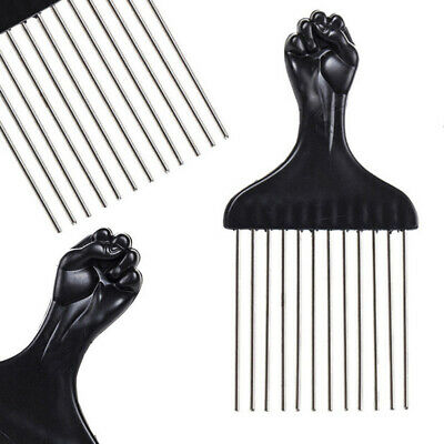Salon Pro Stainless Steel Afro Hair Comb Hairdressing Styling Pick Dye Brush New