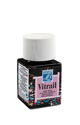 Lefranc & Bourgeois Vitrail Transparent Paint for Stained Glass PINK 4 x 50ml
