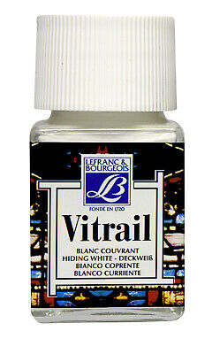 Lefranc & Bourgeois Vitrail Transparent Paint for Stained Glass WHITE 4 x 50ml