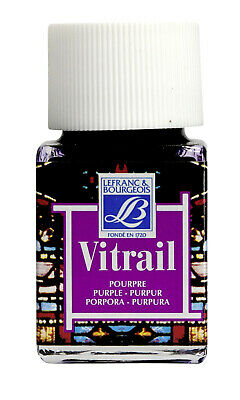 Lefranc & Bourgeois Vitrail Transparent Paint for Stained Glass PURPLE 4 x 50ml