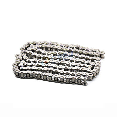 """25# Stainless Steel Roller Chain Pitch 1/4"""" 04C Roller Chain x 1/1.5/3M"""