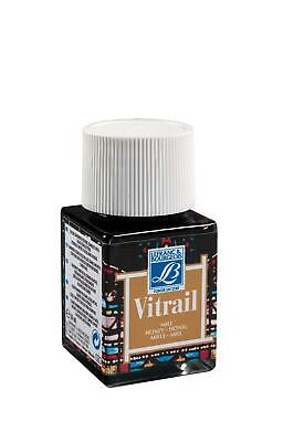Lefranc & Bourgeois Vitrail Transparent Paint for Stained Glass HONEY 4 x 50ml