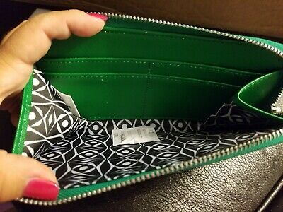 Tupperware Logo Consultant Award Green Wallet NEW w out tags Zipper Close Coupon